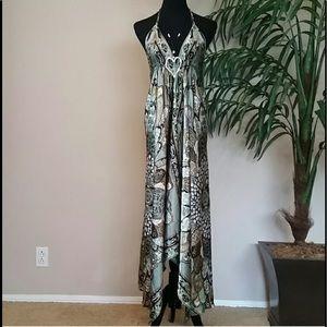 🌿Silky Bohemian Backless Dress